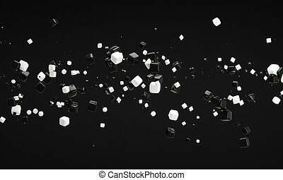 abstract black and white background 3d rendering
