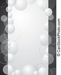 Abstract black and white bubble background