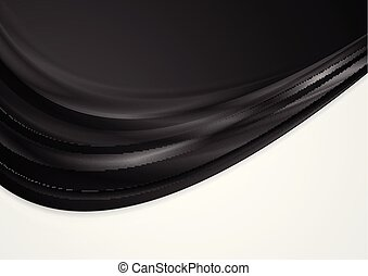 Abstract black and white contrast wavy background
