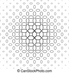 Abstract black and white ellipse pattern design