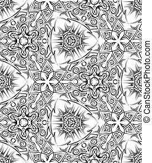 abstract black and white ethnic seamless pattern. Pagan...