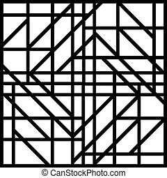 Abstract black and white geometric pattern