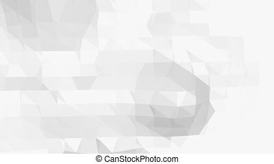 Abstract black and white low poly waving 3D surface as computer environment. Grey abstract geometric vibrating environment or pulsating background . Free space