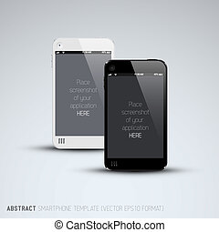 Abstract black and white mobile phones template - Abstract...