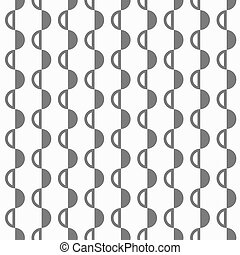 Abstract black and white pattern with semispheres