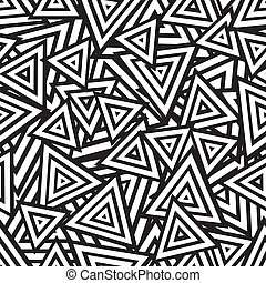 Abstract black and white seamless pattern. Vector...