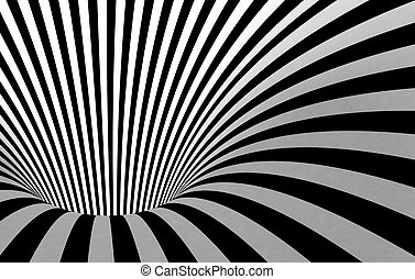 black and white tunnel - Abstract black and white tunnel