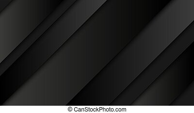 Abstract black background, diagonal lines and strips, vector illustration