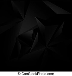 Abstract black background with geometric figures