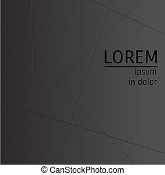 abstract black background with lines