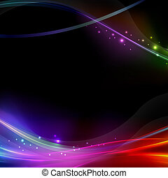 Abstract Black background with rainbow