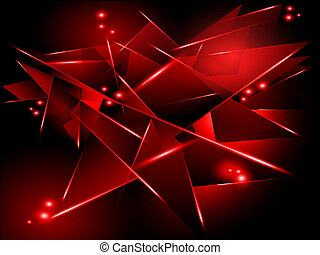 abstract black background with red