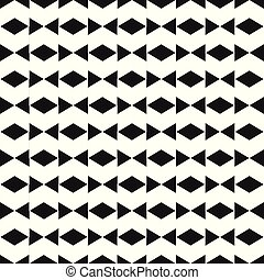 Abstract Black Bow Tie Pattern Vector Image
