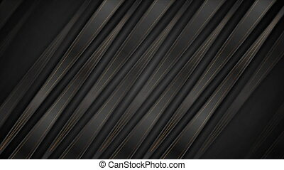 Abstract black bronze corporate motion design with stripes and lines. Golden deluxe technology background. Seamless looping. Video animation Ultra HD 4K 3840x2160