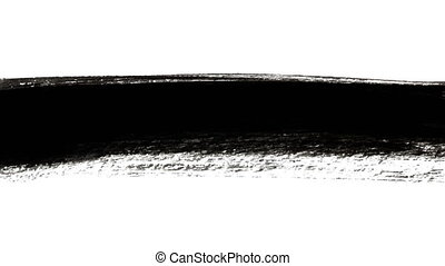 Abstract black brush strokes - Abstract black ink...