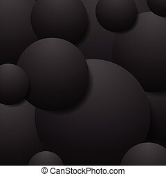 Abstract black circles tech background