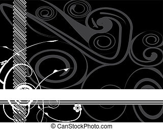 abstract, black