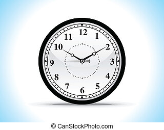 abstract black clock
