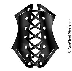 abstract black corset
