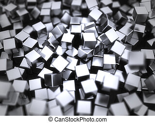 Abstract black cubes background