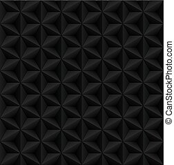 Abstract black diamond 3d geometric seamless pattern. Vector illustration.
