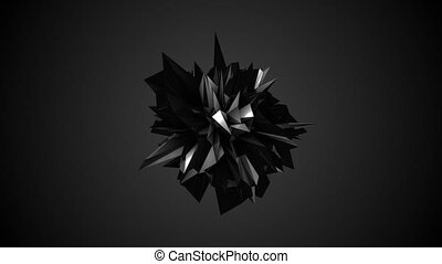 Abstract black fractal geometric element