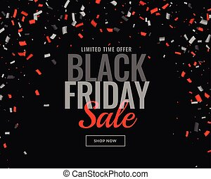 abstract black friday sale confetti background