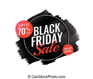 abstract black friday watercolor banner design