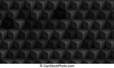 Abstract black geometric 3d cubes technology motion background