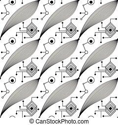 Abstract black geometric pattern