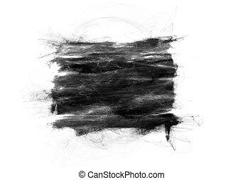 Abstract black grunge shape