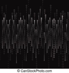 Abstract black halftone circles background