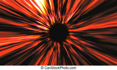 Abstract black hole, time warp, distortion of space,...