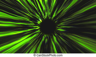 Abstract black hole, time warp, distortion of space, traveling in space, 3d rendering backdrop