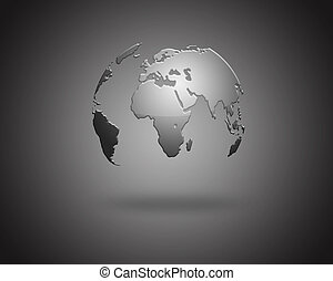 Earth isolated on light background.