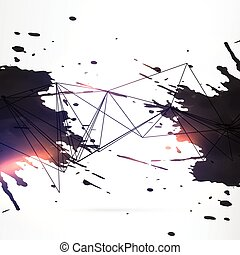 abstract black ink grunge background
