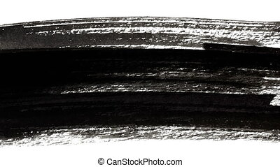 Abstract Black Ink Hand-painted Brush Strokes -- 4K Seamless...
