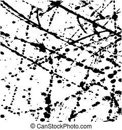 Abstract black Ink Splatter Background