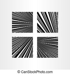 abstract black lines background vector set