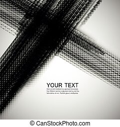abstract black lines on a white background