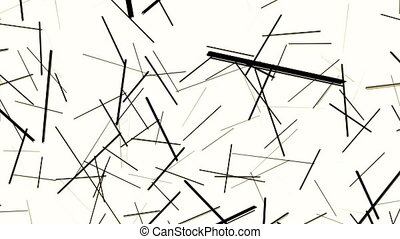 Abstract black lines on white background