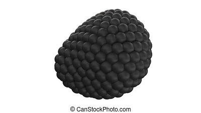 Abstract Black Metaball Sphere Object
