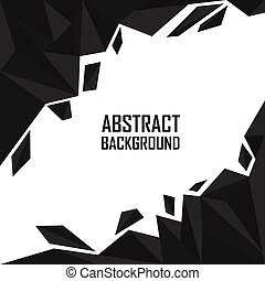Abstract black polygon artistic geometric background