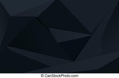Polygon Wallpaper Black Illustration For Design