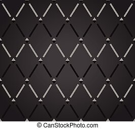 Abstract black rhombus seamless pattern