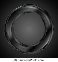 Abstract black ring vector logo