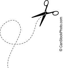 abstract black scissor