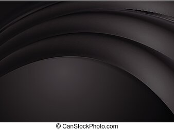 Abstract black smooth waves background