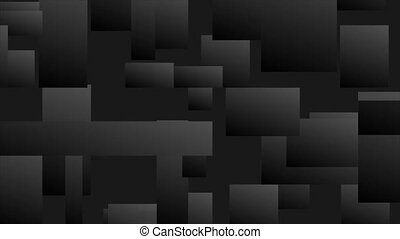 Abstract black tech geometric mosaic motion background - ...
