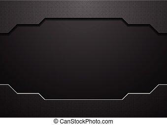 Abstract black technology concept vector design